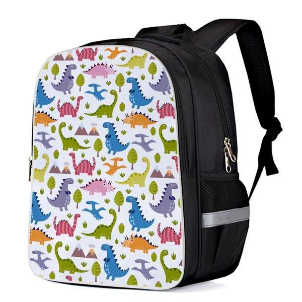 Lovely Dinosaur Patterns Interner Rahmen Rucksäcke Schulbuchtaschen Casual Daypacks Arbeitsrucksack Sporttaschen Rucksäcke