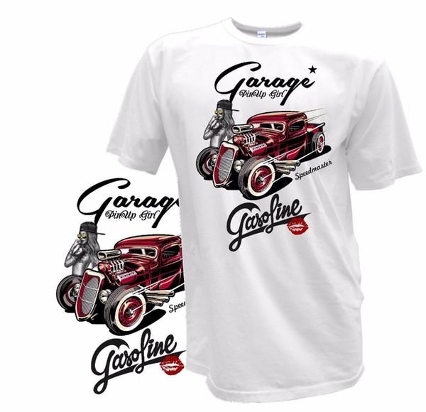 Nouveau 2019 Style D'été T-shirt Pour Homme Hot Rod Classique V8 Hellcat Herren Biker Tatouage Personnalisé Nous Tee Shirt