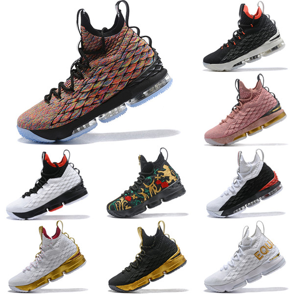 88854b8510085a 2019 New High Quality Lebron 15 Four Horsemen Multi Color Black 897648 901  Mens Basketball Shoes James 15 Sneakers XV Sports Shoes Size 40-4