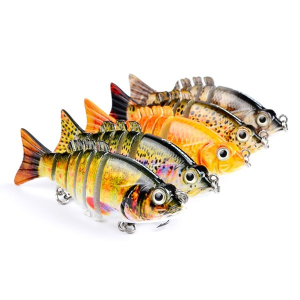 1pcs 5-color 9cm 11g Multi-section Fish Plastic Hard Baits & Lures Fishing Hooks 6# Hook Artificial Bait Pesca Fishing Tackle Accessories