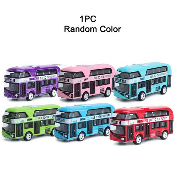 Nuevo Mini Modelo de Coche Niños Aleación Tire de los Juguetes para Coche 1:43 Simulación London Bus de Doble Capa para Niños Juguetes
