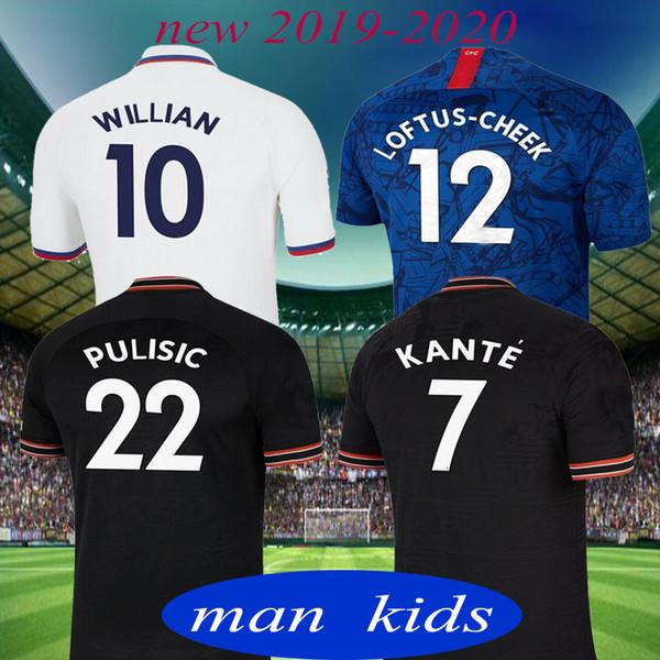 Таиланд 2019 PULISIC KANTE LAMPARD ОДОЙ УИЛЛАН футбол майка 2020 GIROUD Camiseta de футболка комплекты футболка 19 20 МУЖЧИН ДЕТИ УСТАНОВКИ УНИФОРМА