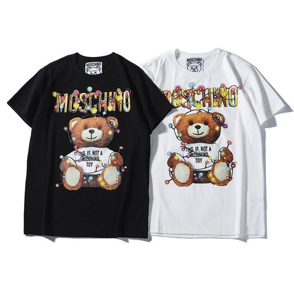 2019 new fashion designer di marca t shirt hip hop bianco abbigliamento uomo casual magliette per uomo con lettere stampate tshirt taglia s-2xl