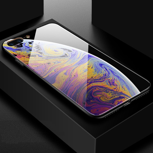 Tempered Glass Phone Case For Iphone X 6 6s 7 8 Plus Xs Max Xr Samsung Galaxy S7 Edge S8 S9 Plus Note 8 Fashion Wallpaper Iphone Cover Shell Uncommon