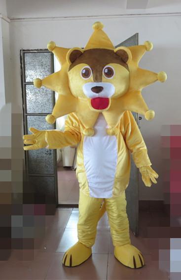 Nova venda quente leão amarelo Mascot Costume Girl Mascot Costume Para o Dia das Bruxas Festa de Natal