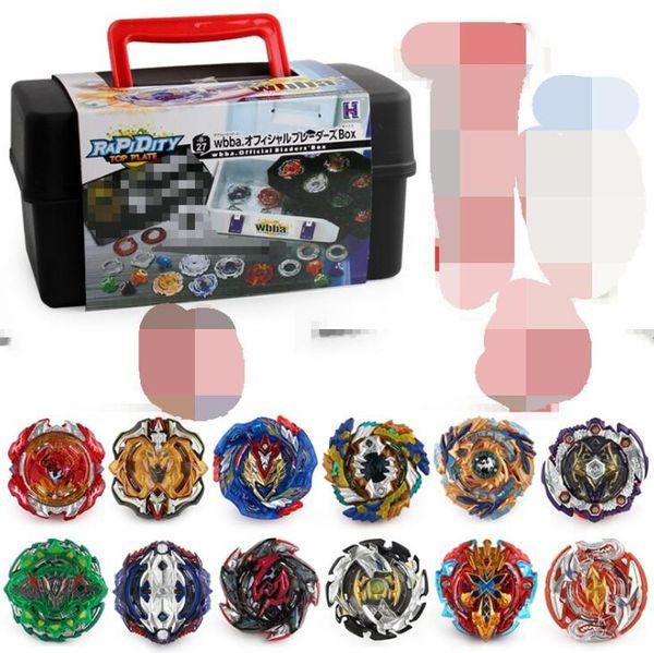 Patlama Beybleyd Oyuncaklar Çocuklar için Set Alaşım Patlama Savaş Gyro başlatıcısı ile Saklama Kutusu Set XD168-21