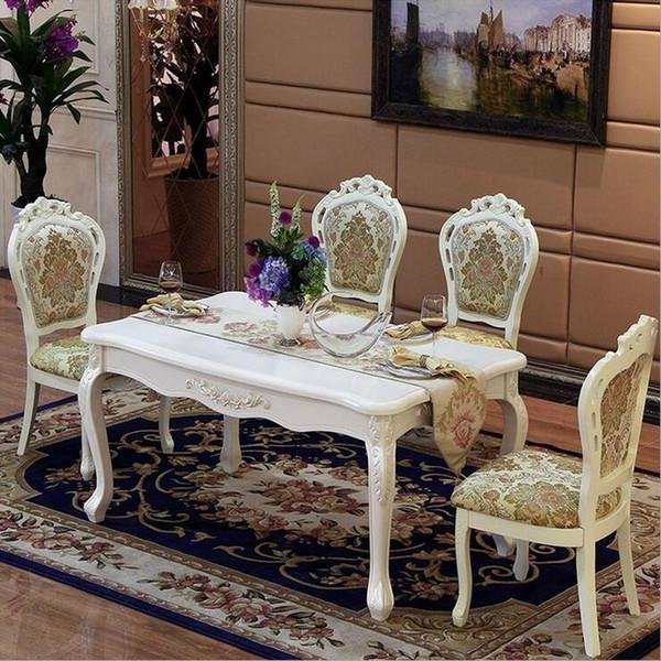 Acheter Table De Salle À Manger Italienne De Style Moderne, 100% En Bois  Massif Table De Salle À Manger En Marbre De Style Italien De Luxe Réglée ...