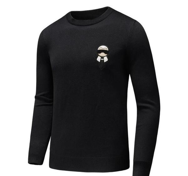 бренд дизайнер монстра свитер мужчин кожа псы трикотаж зимой теплый свитер пуловер кардиган пригонки кашемировый свитер мужчин D30