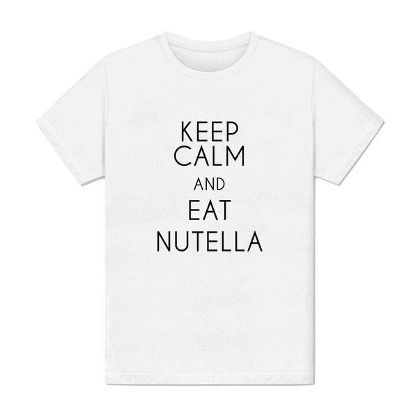 Compre Camiseta Homme Keep Calm Come Nutella Chocolat Bombón Frase Amusante Divertido Envío Gratis Unisex Casual Top A 1028 Del Shirtquarters