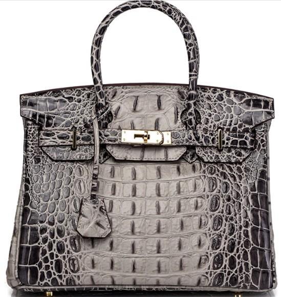 crocodile fashion bags shoulder bag tote brand new arrive original luxury 3D ostrich wholesale bride women handbag purse Fr DE leather USA