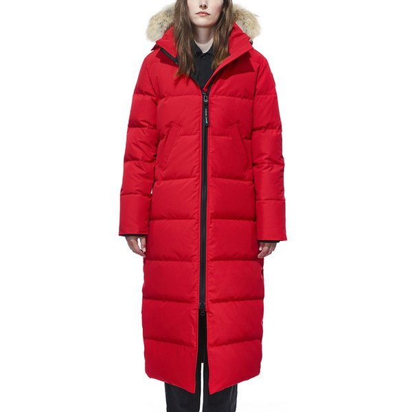 Canadian autumn winter Warm down jacket women designer goose outdoor coats hooded thick windproof mystique parkas jackets white black red