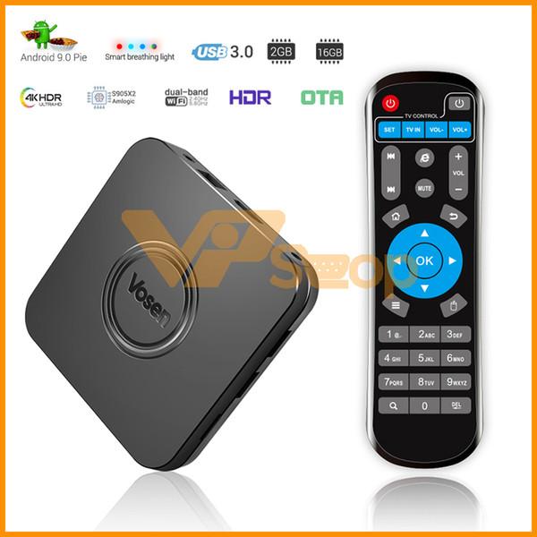 MECOOL VOSEN V1 S905X2 2GB DDR4 16 GB ROM Smart TV Box Android 9.0 2.4G 5G WiFi USB 3.0 4K TV Box Supporto Controllo Z-Wave Smart Device