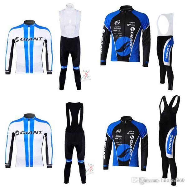 GIANT team Radsporthose mit langen Ärmeln (Lätzchen) setzt neue, heiße Outdoor-Sportbekleidung Atmungsaktives Polyester-MTB-Radsportbekleidung c3007