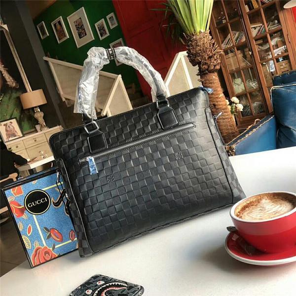 Hotsale klasik banrd yeni tasarımcı evrak en kaliteli hakiki deri erkek çanta lüks erkekler çanta