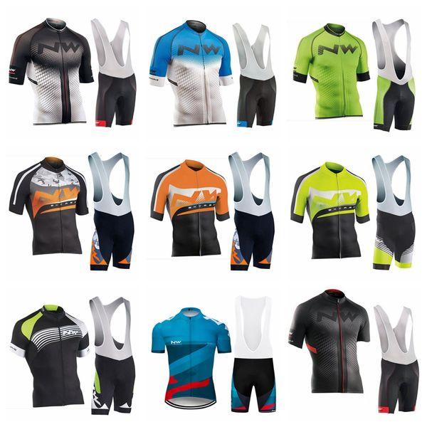 2019 NW ORBEA Summer Pro team Short Sleeve Men's Cycling Jersey Bib Shorts Set Bike Clothes Bicycle Clothing kits52254