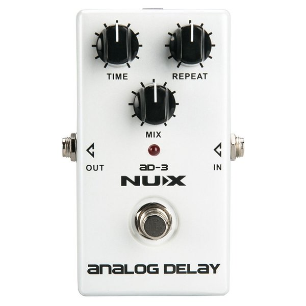 NUX AD-3 Guitar Effects Pedal Analog Delay Effect Low Noise BBD Delay Circuit 20-300ms Delay time Warm and Smooth True Bypass