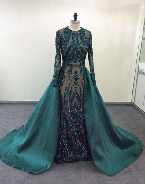2019 foreign trade hot sequined lace fishtail evening dress long tail long gown express sell dress