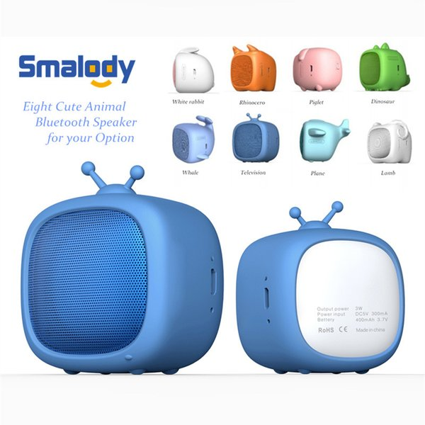 Smalody Bluetooth Mini Speaker Cute Pet Soundbox Supports TF Card MP3 Music Player Portable Loudspeaker for Kids Gift