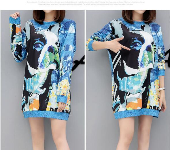 New 1Pcs Sweatshirt For Women Cartoon Sweatshirts Women's Pullover Long Sleeve QW-383