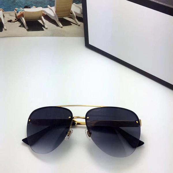 Роскошные 0315 солнцезащитные очки для мужчин дизайн бренда популярная мода 0315S летний стиль с пчелами высокое качество УФ-Защита объектива поставляются с чехлом