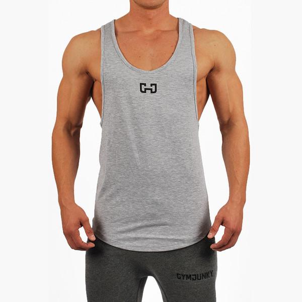 2019 горячая улица Спорт жилет фитнес одежда мужчины тренажерный зал работает обучение дышащий колготки жилет круглый воротник лето