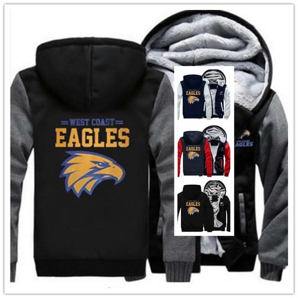 2019 sudadera con capucha de invierno West Coast Eagles hombres mujeres abrigos con capucha ropa de otoño sudaderas con cremallera chaqueta polar sudadera con capucha streetwear