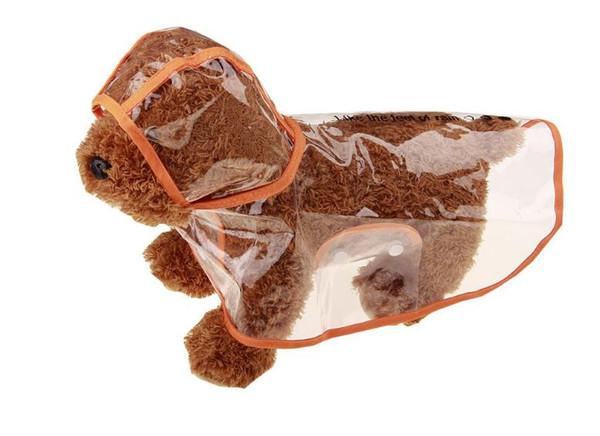 Spring and summer dog transparent waterproof raincoat puppy pet raincoat pet clothes