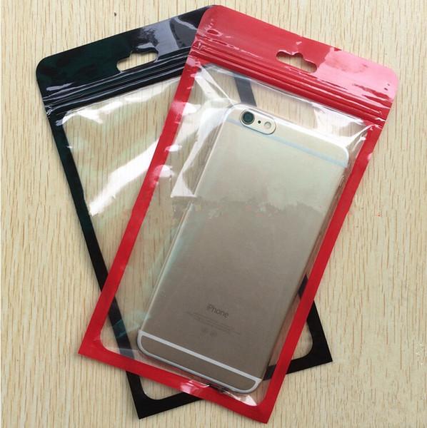 Klare farbe kunststoff polybeutel opp verpackung reißverschluss schloss paket zubehör pvc kleinkasten griffe für usb kabel handy case