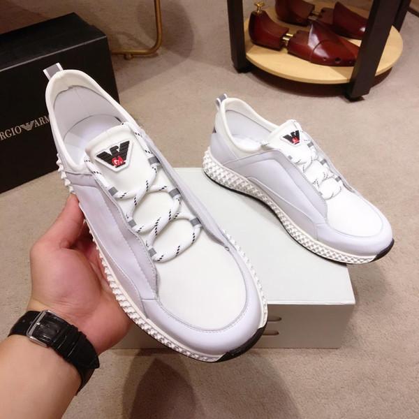 2019j, chaussures de sport pour hommes de marque de luxe en cuir respirant de designer en cuir respirant, chaussures de sport de qualité supérieure et sauvages, taille: 38-44