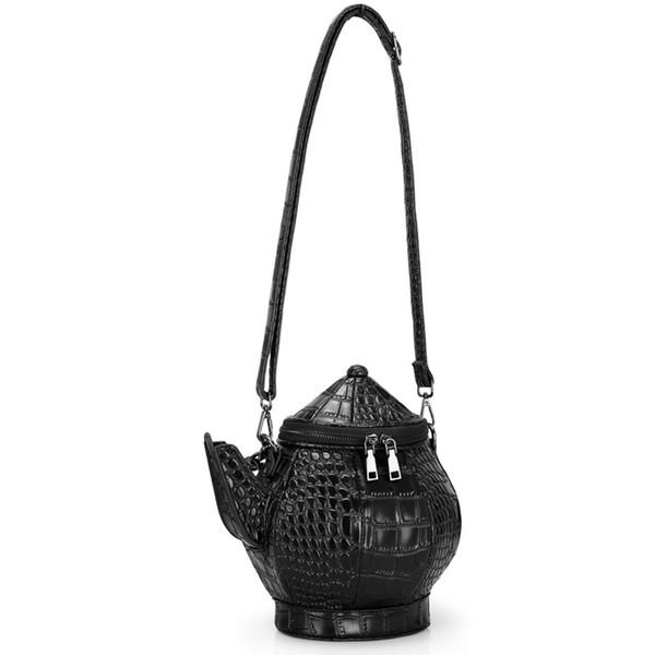 Transfrontalière paquet 3D personnalisé théière bouilloire sac pichet Messenger sac à main de sac à bandoulière sacs à main pu une génération de graisse