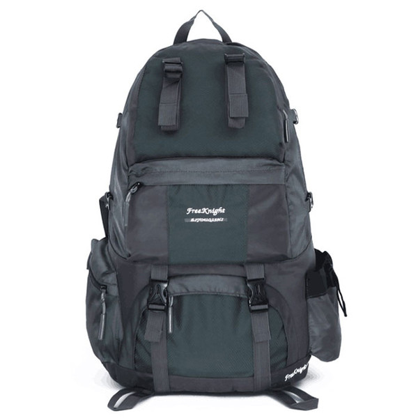 Free Knight FK0218 50L Outdoor Waterproof Nylon Hiking Camping Backpack Gray