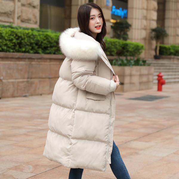 3XL vers le bas coton manteau femmes hiver Veste Parka oversize chaud épais manteau d'hiver Femme d'extérieur à manches longues Veste matelassée Q1907