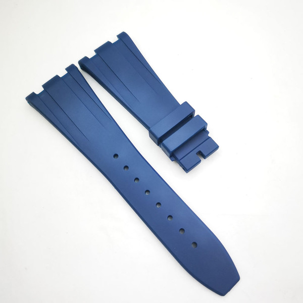 28mm Men's Blue luxury high quality Rubber Silicone Strap Band for AP A P Royal Oak Offshore