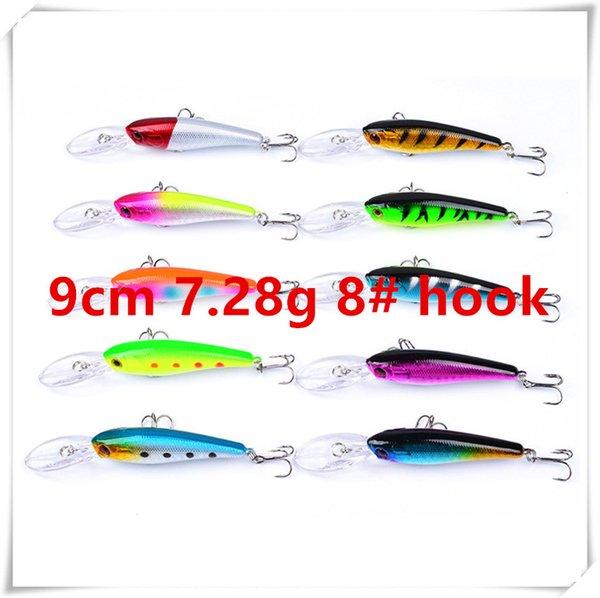 9cm 7.28g 8# hooks