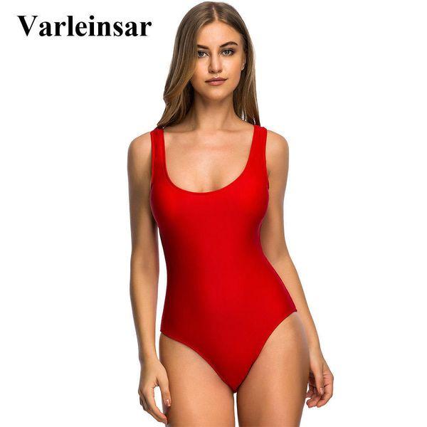 Sexy S-6xl Tamanho Grande Swimwear Plus Size One Piece Swimsuit Mulheres Mulheres Bather 2019 Maiô Nadar Backless Monokini V128r J190519
