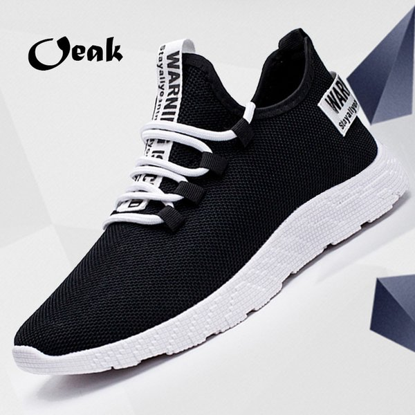 2019 New Mesh Hommes Casual Chaussures -up Hommes Chaussures Léger Confortable Respirant Baskets De Marche Tenis Feminino Zapatos FI