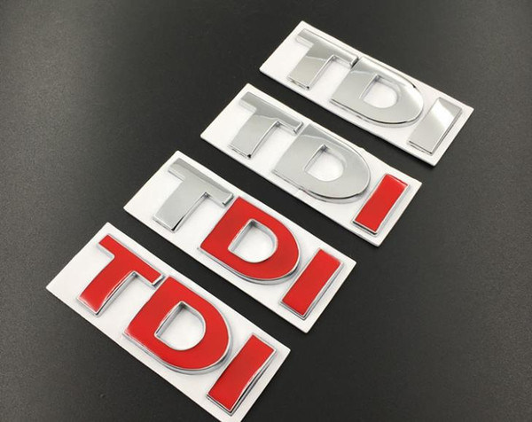 Car-Styling 3D Metal TDI Letter Chrome Badge Emblem Car stickers For Volkswagen cc Side mark tail mark in the net label polo