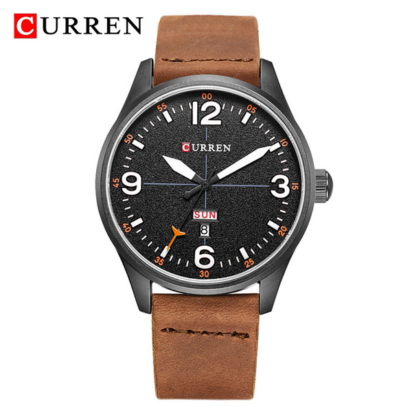 857d60586b65 Relojes de lujo de los hombres de la marca CURREN Militar de cuarzo para  hombre Reloj