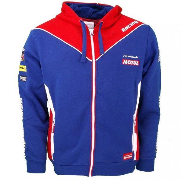 Neue 2018 motogp hoodies für honda hrc racing team erwachsene winddicht motorrad sportjacke herren zip-up sweatshirts rot
