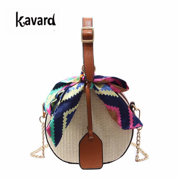 Designer Kavard Fashion Crossbody Bags For Women Straw Beach Bag New Bags Handbags Women Famous Brands Ribbons Hand Bag Bolsa Feminina
