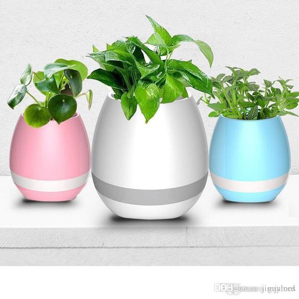 20 pcs Criativo Música Vaso Inteligente Música Vaso de Flores Sem Fio Bluetooth Speaker K3 Planta Inteligente Música de Piano com Colorido Luz Da Noite LEVOU