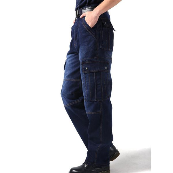 New Cargo Pants Baggy Jeans Pants Mens Hiphop Loose Skateboard Man Jeans Big Size 30-46