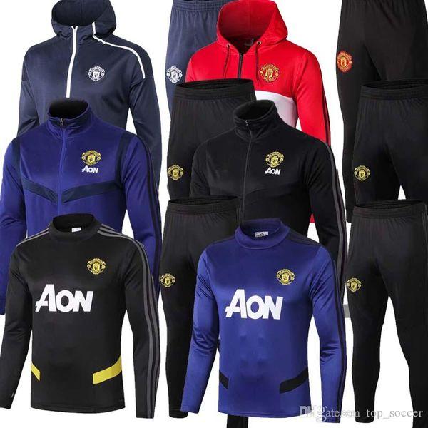 19 20 Manchester polo Camisa de manga curta calças United POGBA soccer training 2019 2019 RASHFORD LUKAKU Man Football polo shirts agasalho