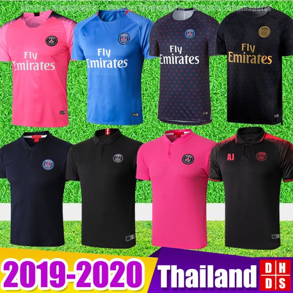 2019 PSG Soccer Training Shirts maillot de foot 18/19 MBAPPE Soccer Jerseys Kit Survetement 2020 Paris saint germain football POLO shirts