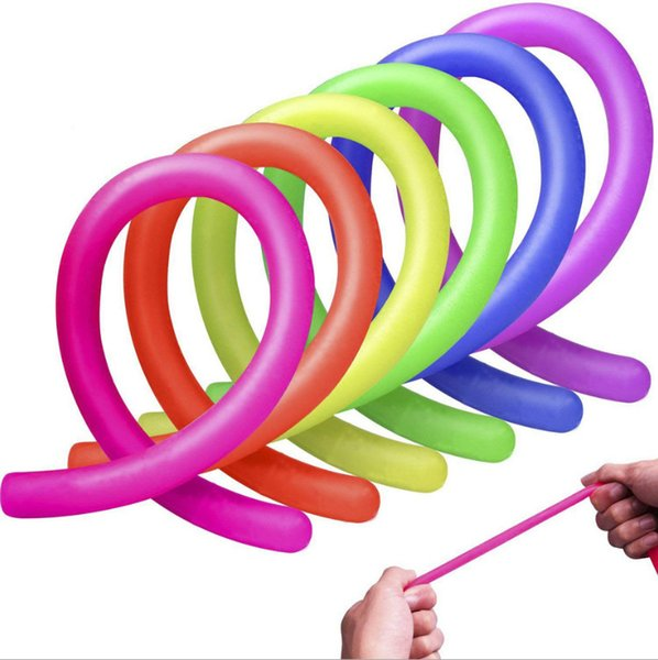 top popular Stretchy String Neon Flexible 18*1cm Elastic String Rope Sensory Decompression Kids Novelty Toys Office Supplies Decompression Toy 2020