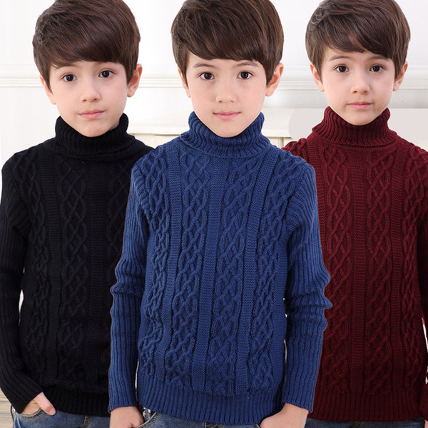 Casual Body Boys Pullover Sweater For Kids Winter Boys Sweater Kids Clothes Warm Long Sleeve Baby Children Clothing Knitted