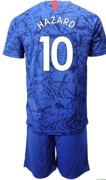 Personalizado 19-20 casa azul 22 Willian Soccer Jersey com curto, barato mens 11 Pedro 3 MARCOS A. 29 MORATA 10 Perigo 10 homens PULISIC Soccer Set
