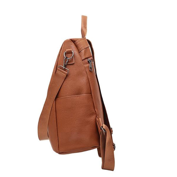 Wholesale-2019 корейской версии о.е. нового двойные назад противоугонного мешок большого водонепроницаемого ретро мода путешествие рюкзак мода 100 студент сумка