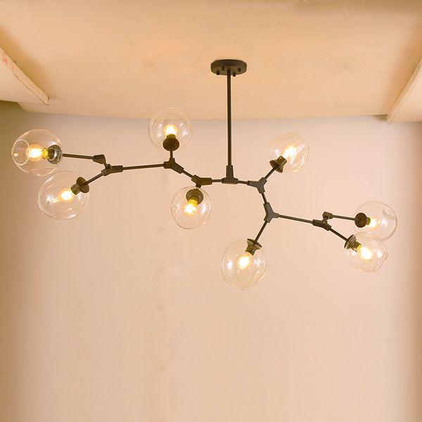 Modern Chandeliers Lighting Bubble Ball Pendant Lamp Gold Metal Hanging Lamp Living Room Dinning Room Light Fixtures