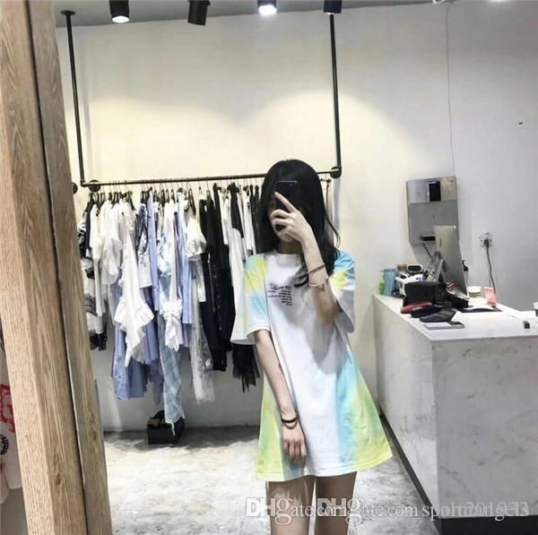 19ss usa fashion brand OFF classic oil painting printing T-shirt round neck temperament couple trend sports comfortable short sleeve